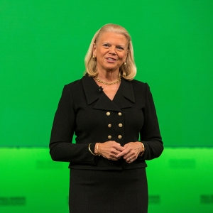 IBM Chairman and CEO Ginni Rometty discusses how cognitive technology and innovations such as Watson and blockchain have the potential to radically transform the financial services industry at Sibos 2016 in Geneva, Switzerland on Weds., September 28, 2016. (Feature Photo Service)